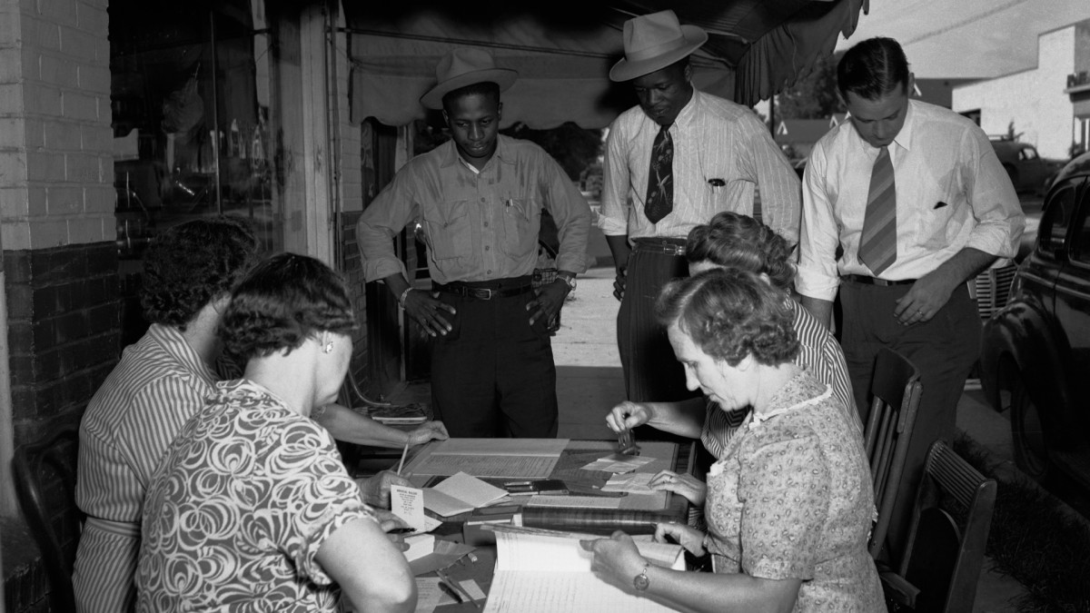 For the first time since adoption of the State Constitution in 1890, Black voters participate in the Mississippi Democratic primary, 1946.
