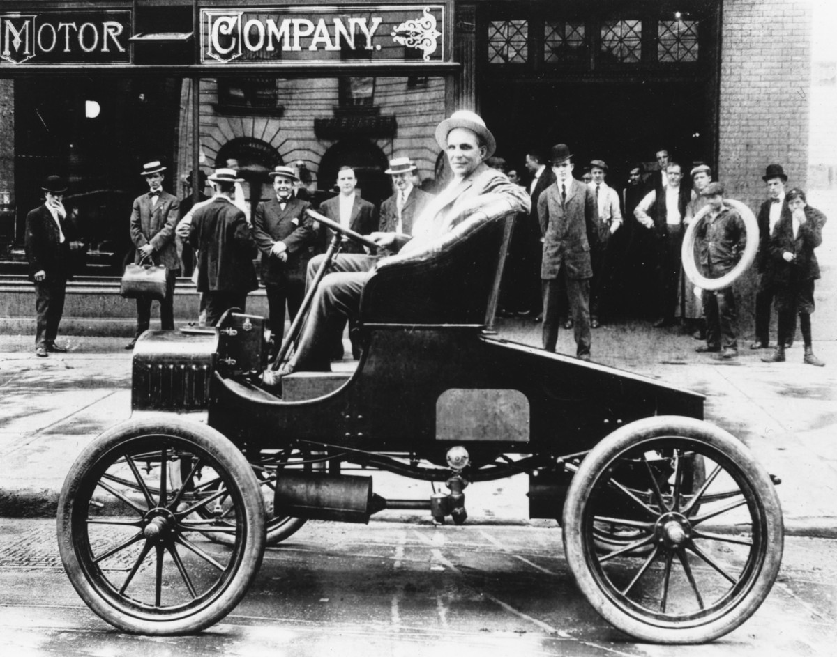 Henry Ford at Ford Motor Factory, Detroit, Michigan