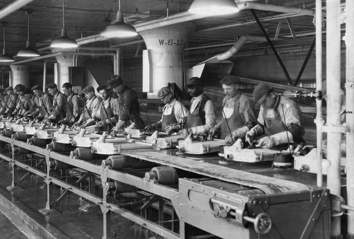 Ford Motor Company production line, 1920s