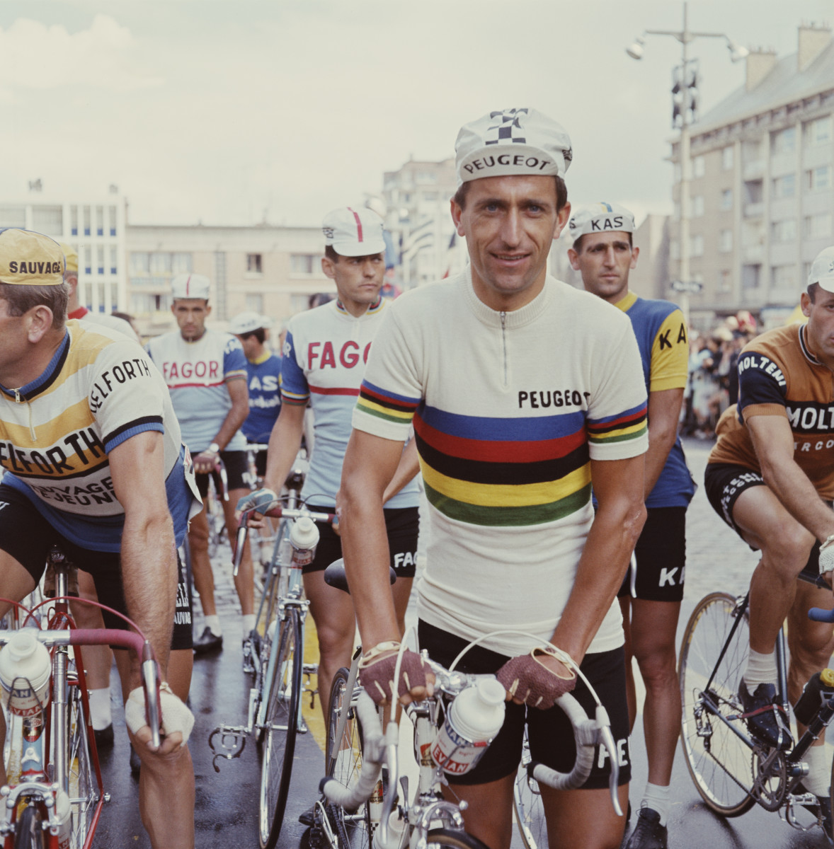 Cyclist Tommy Simpson before the first stage of the Tour de France on June 21, 1966, in Nancy, France