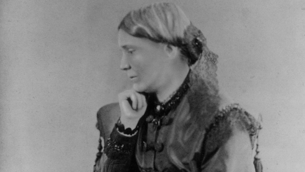 English-born Dr. Emily Blackwell, c. 1860, one of the first women to practice surgery on a major scale.