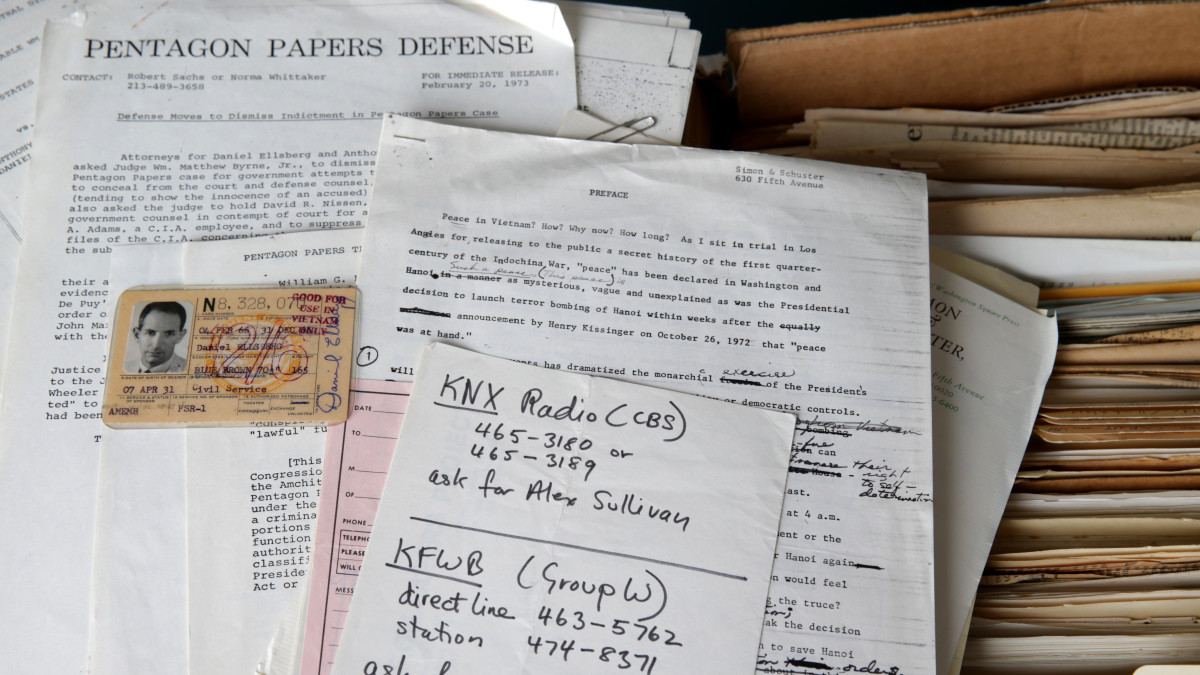 Some of the papers from the archive of Daniel Ellsberg, who leaked the Pentagon Papers in 1971