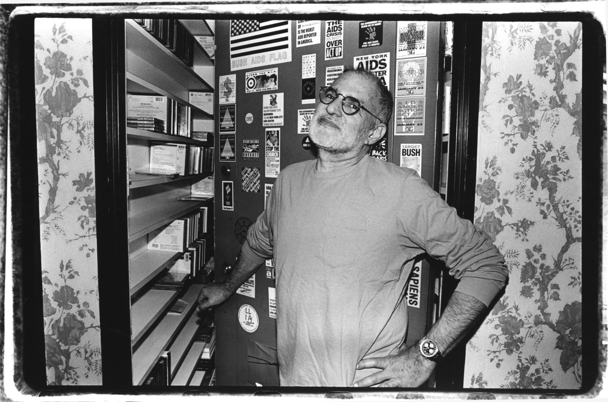 Playwright and activist Larry Kramer in 1993.