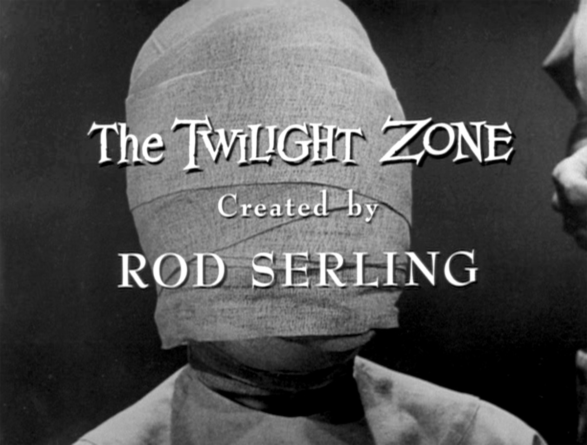 End title credit of 'Twilight Zone' episode 'Eye of the Beholder,' written by Rod Serling. Originally broadcast on November 11, 1960.