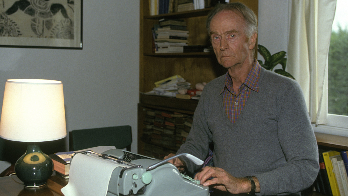 John Cairncross, a British spy during World War II, is shown in his house on October 18, 1990 in Saint-Antonin, France.