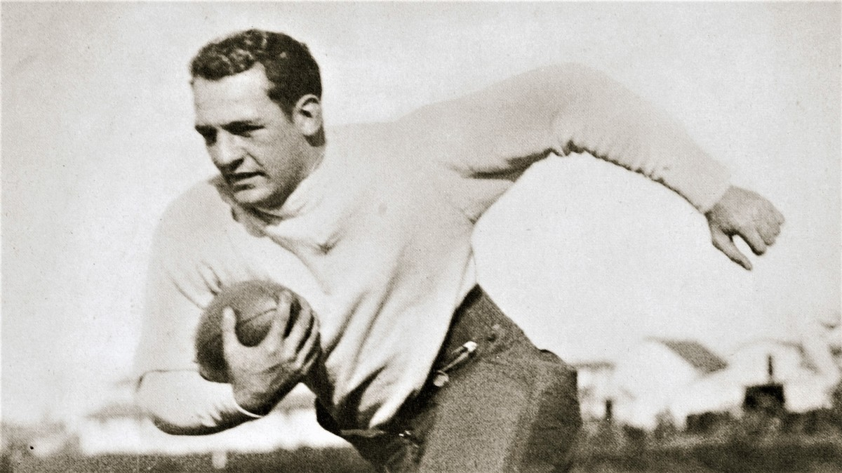 """Red Grange, """"The Galloping Ghost,"""" starred at the University of Illinois and in the NFL."""