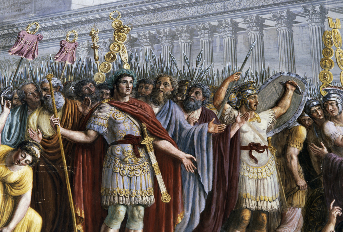 Emperor Trajan among the soldiers.