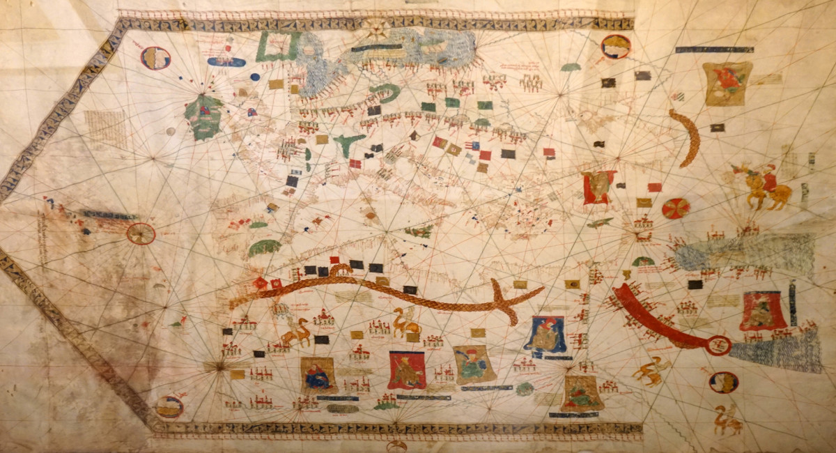 Gabriel de Valseca's 'Portolan Map' from 1439 documents discoveries of the captains of the Portuguese Prince Henry the Navigator. Its depiction of the Atlantic Ocean stretches from Scandinavia down to the Rio de Oro.