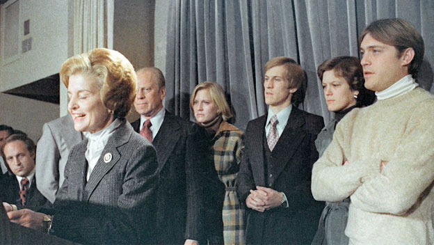 First Lady Betty Ford Delivers President Ford's Concession