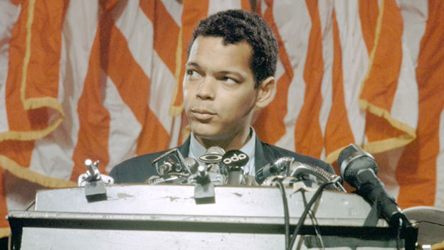 Julian Bond's Name Placed in Nomination for Vice Presidency