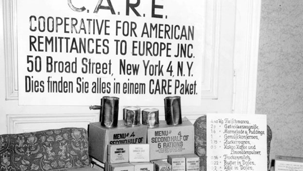 CARE Delivers Packages to Orphans in Postwar Europe