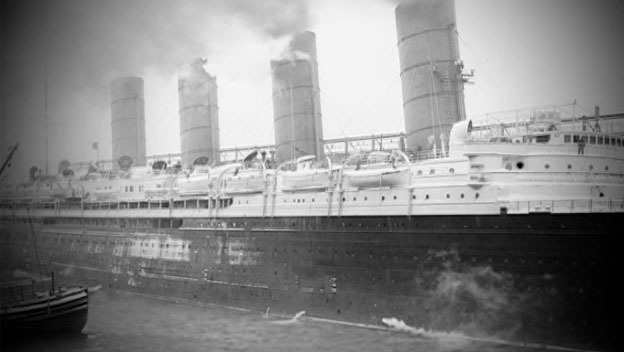 U-Boats Sink the Lusitania in 1915