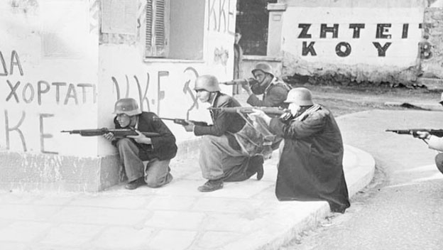 Greek Communists Clash with the British in Athens