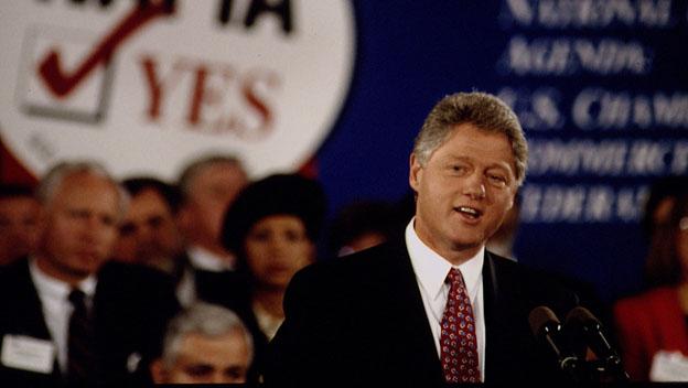Clinton Signs NAFTA