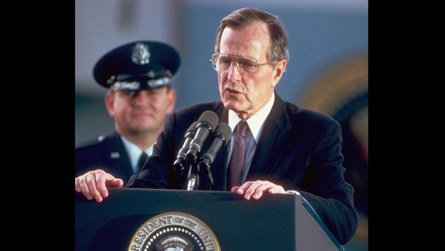 Bush Calls for Glasnost in East Berlin