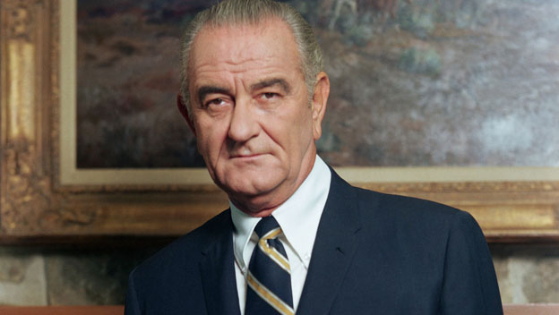 Lyndon Johnson Phones Jacqueline Kennedy