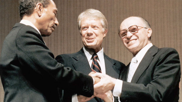 Menachem Begin at Camp David Summit