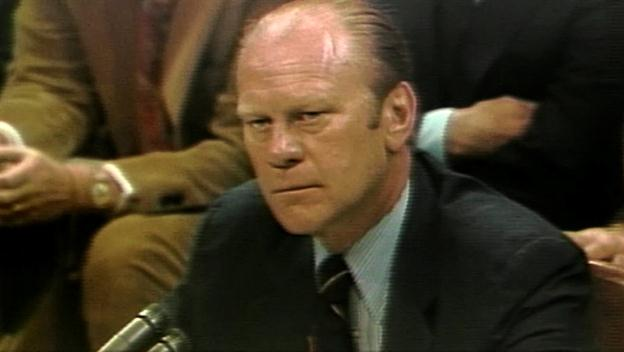 Ford: Defends Nixon Pardon
