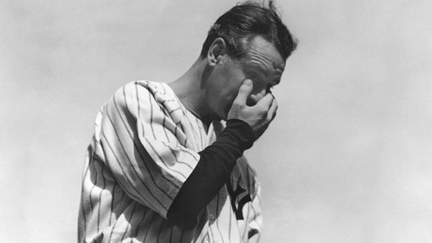 Lou Gehrig Bids Farewell to Baseball