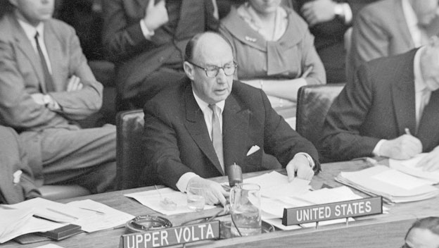 Adlai Stevenson Rejects Communist China's U.N. Admission