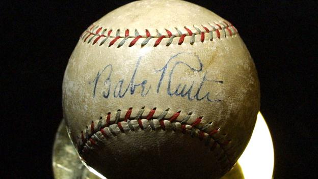 Babe Ruth Signs Contract