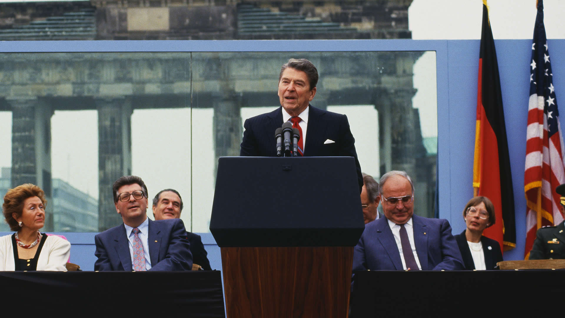 Image result for president ronald reagan demands the berlin wall be torn down