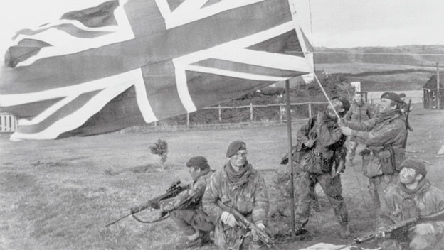 British Defeat Argentines in Falkland War