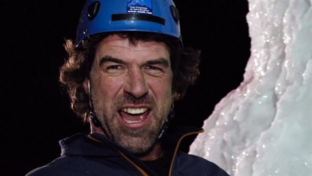 Darrell Climbs Icewall